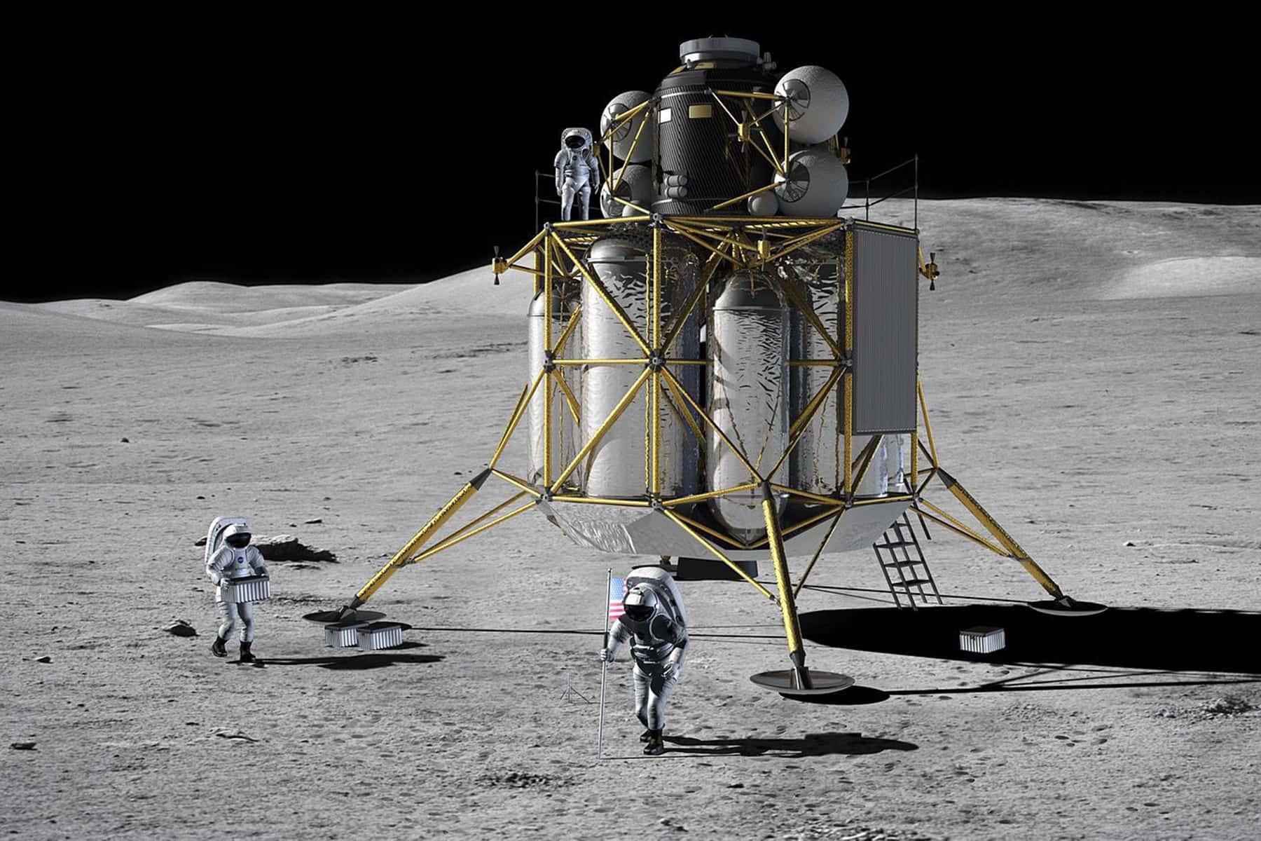spacecraft found on moon - HD1800×1200